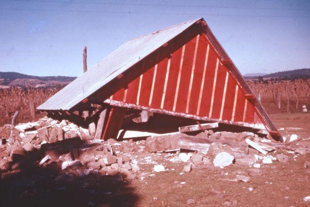 Little house where Elders Larson, Schmollinger, and Bernhardt were sleeping