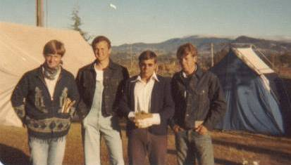 Four camp studs: Garth Howard, Kelly Robbins, Lance Standifird, Larry Richman