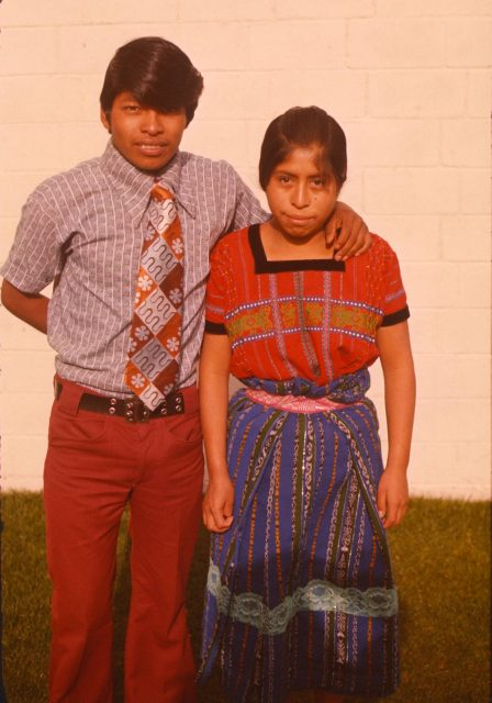 Alejandro Choc and his girlfriend