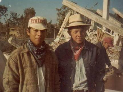 Elders Argueta and Richman behind the Patzicía church.