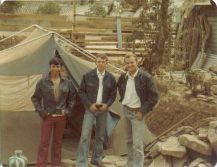 After camp Patzicía ended, we returned to Comalapa and lived in this tent. Elders Argueta, Richman, Robbins