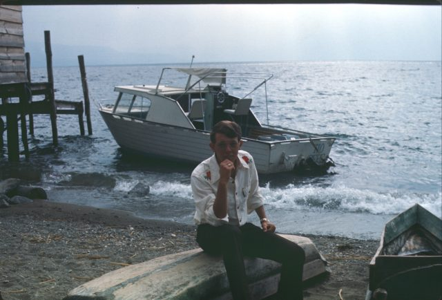 Elder Richman at Lake Atitlan, Christmas 1975