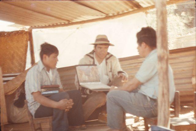 Elder Choc and Elder Salazar teaching Ricardo Cua