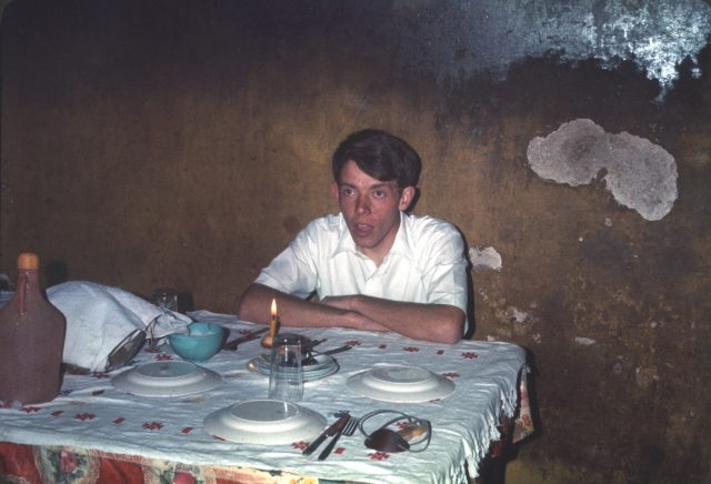 Larry Richman's birthday, July 10, 1975 in Hortencia's kitchen