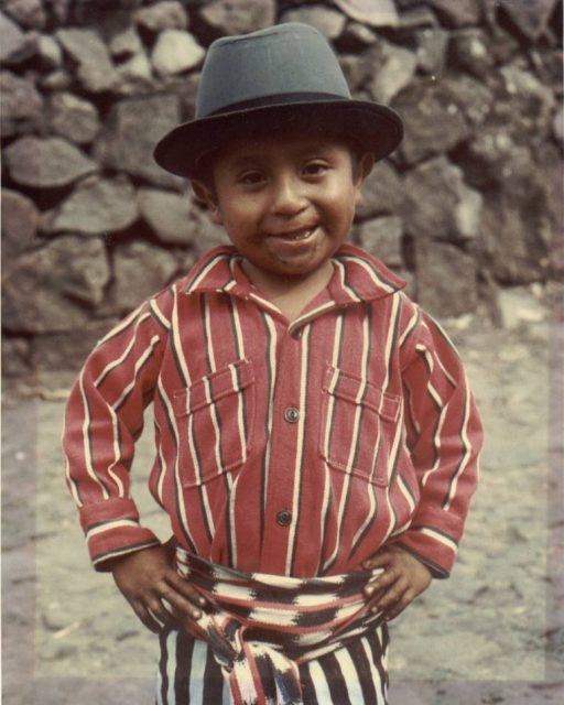 Guatemalan boy in a hat