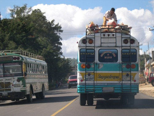 Typical Guatemalan bus