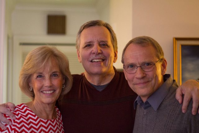 John Bringhurst (on the right) at the reunion in 2016 at Robert Blair's home. John worked among the Kekchi Indians and became the Church's principal translator in Kekchi.
