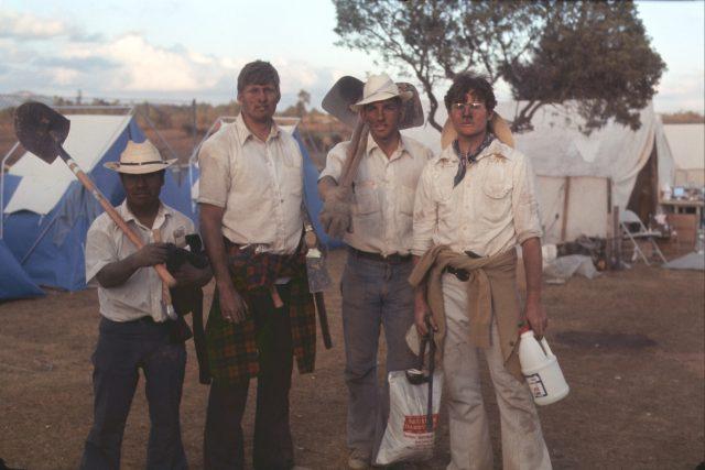 Work gang 2: Elders Choc, Larson, Frischknecht, and Evans