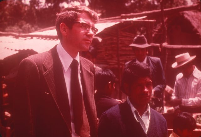 President Robert B. Arnold and Pablo Choc at Daniel's funeral.