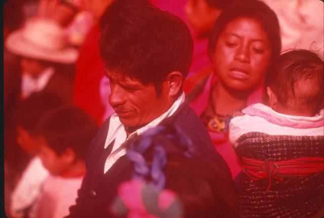 Pablo Choc at Daniel's funeral.