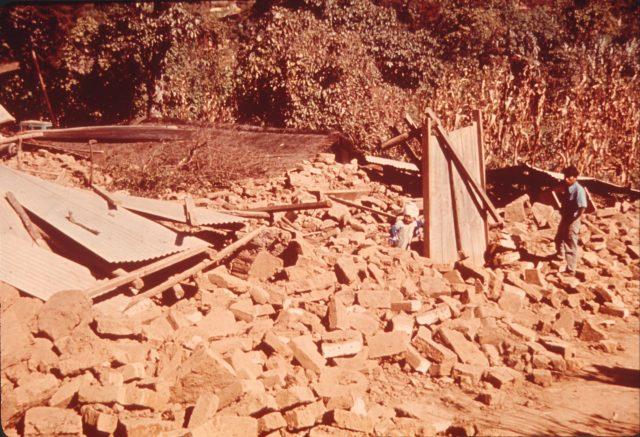 Choc's house after quake