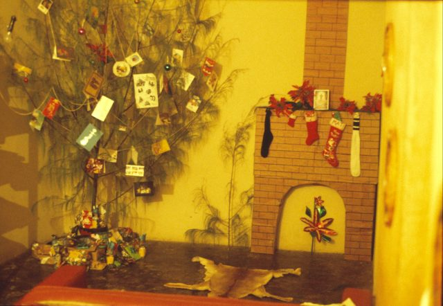 Christmas at the missionary apartment in Ahuachapan