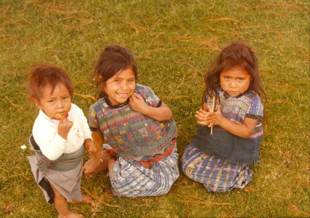 Clemente Alonzo Mich's children in 1977 or 1978