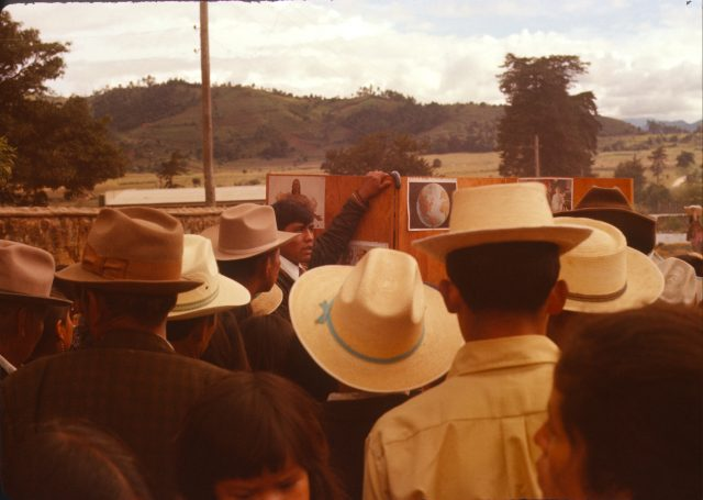 Elder Choc teaching at the Comalapa cemetery on the Día de los Santos, November 1, 1975