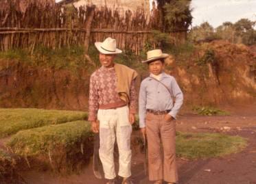 Daniel Mich and his grandson Lazaro Cua