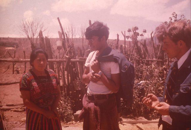 Feliza Choy (Elder Daniel Choc's girlfriend) talking with Elder Argueta and Elder Richman
