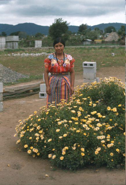 Francisco Aju's daughter in Patzún in 1978