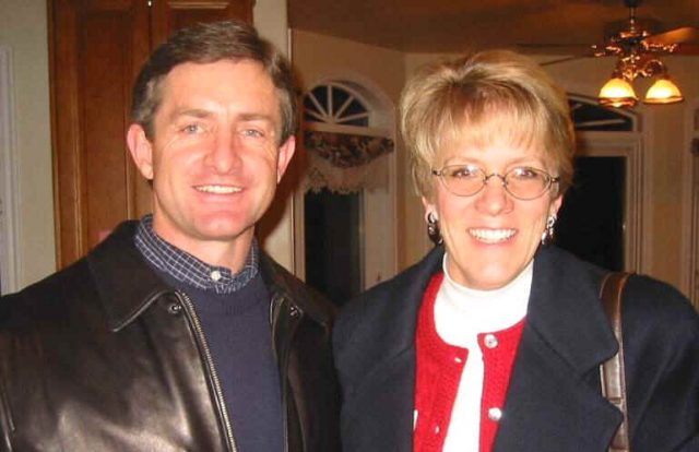 Garth and Tammy Howard at the reunion 28 Dec 2002. At that time, Garth was president at Convergys.