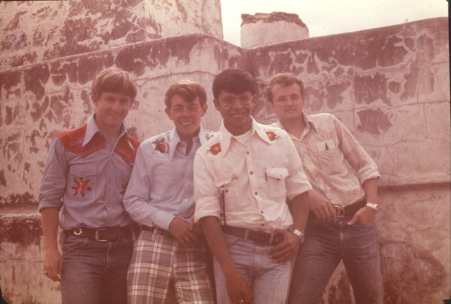 At Zaculeu, February 2, 1976. Elders Howard, Richman, Argueta, and Robbins