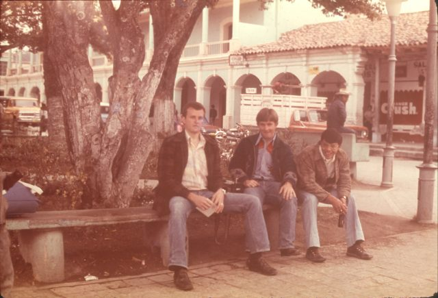At Zaculeu, February 2, 1976. Elders Robbins, Howard, and Argueta.