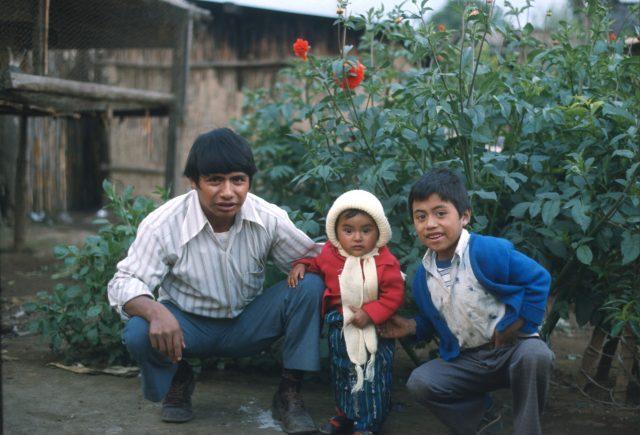 Juan Aju and kids in 1978