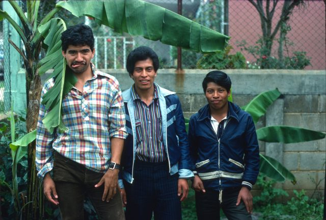 Julio Salazar, Fulgencio Choy, and Alejandro Choc in 1978 when I was in Guatemala for the recording project.