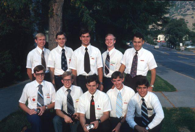My LTM district. Front row (left to right): Elder Dan McClurg, Greg Martin, _______, _______, _______. Top row (left to right): Steve Fackrell, ________, John Hafen, _______, Alan MacIver.