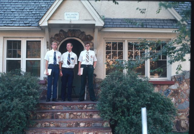 The missionary on the right was my LTM companion, Elder Dan McClurg, from Hopkinsville, Kentucky