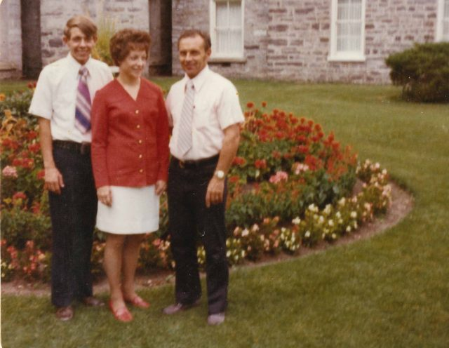 Larry, Mary, and Lynn Richman at the Logan Temple, August 2, 1974