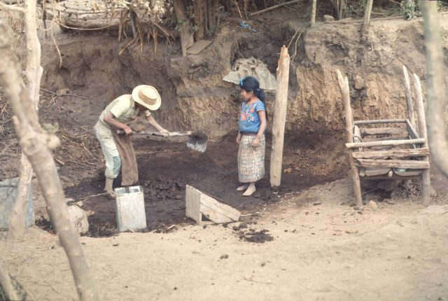 Making an adobe house with Brother Per