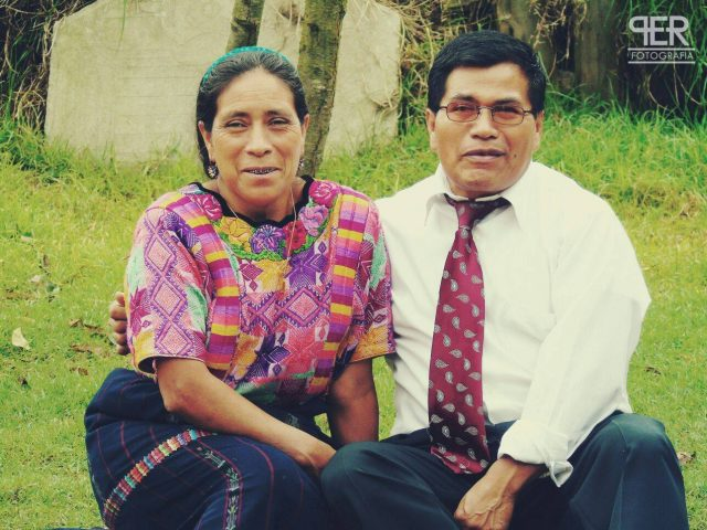Photo in 2015 of Martín Per and his wife Catalina Chex