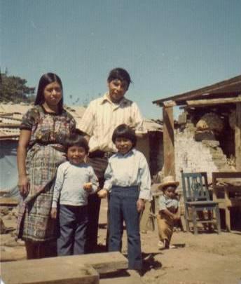 Miza family: Elena, Rigoberto, Hugo, Noe