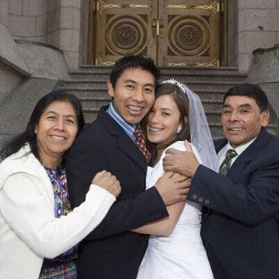 Elena Miza, Lery Nelson Miza, Lery's wife, and Rigoberto Miza