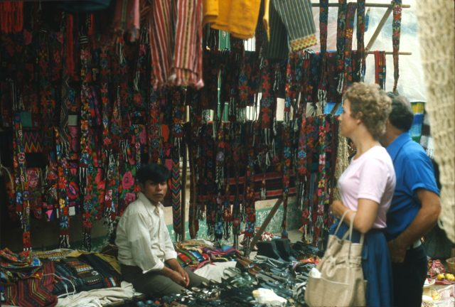 Shopping in Momostenango, Guatemala