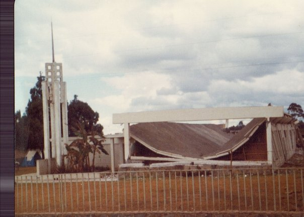 Patzicia chapel roof collapse