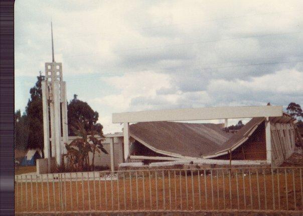 Patzicia chapel roof collapse