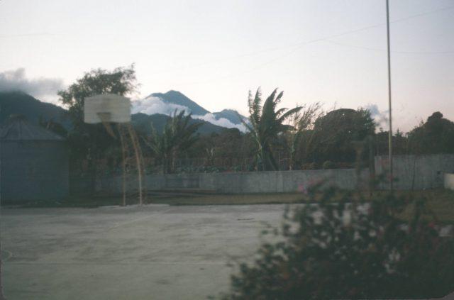 Patzicia-church-volcano-agua