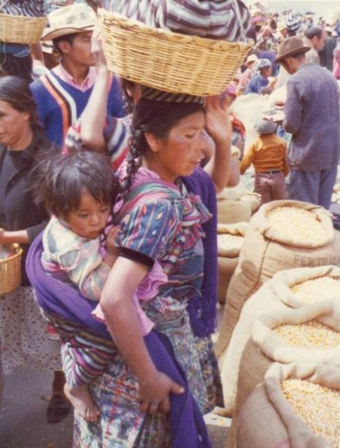 Marketplace in Patzicía, Guatemala, in 1975