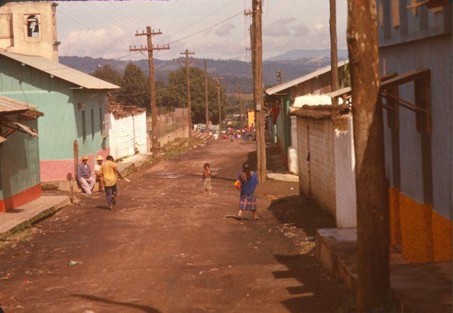 Patzicía street scene