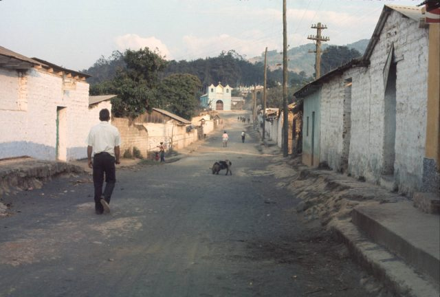 Patzicía street scene, Elder David Frischknecht