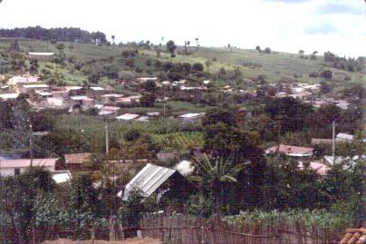 Photo of Patzún, Guatemala, before the earthquake in 1976