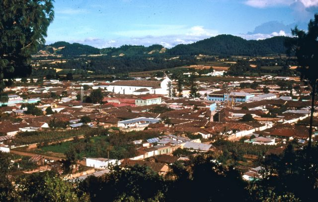 Patzun, Guatemala before the earthquake of 1976 (Photo courtesy of Michael Morris)