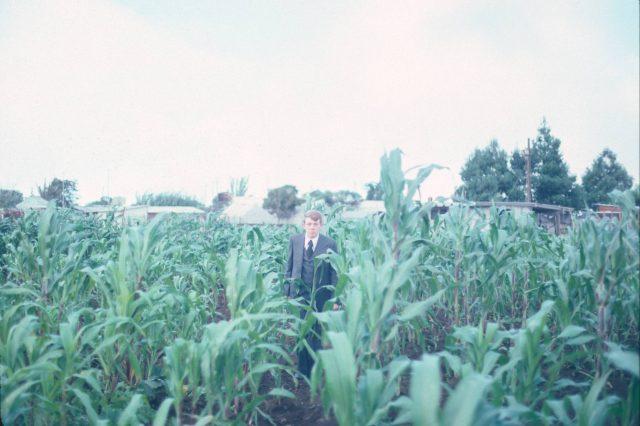Elder Richman in a field in Patzicía, Guatemala