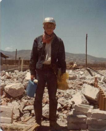 Elder Richman beginning a day's work