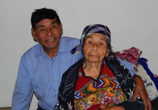 Rigoberto Miza and his mother