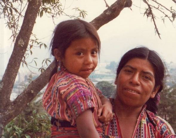 Our housekeeper Tona and her daughter Shennie in Sololá