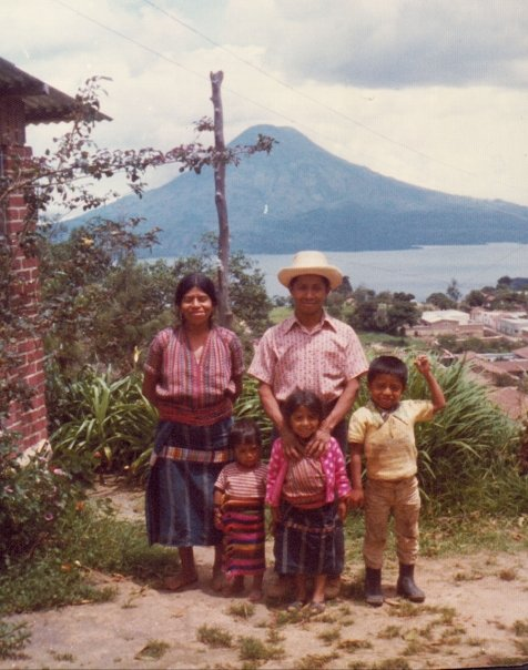 Our housekeeper Tona and her family in Sololá