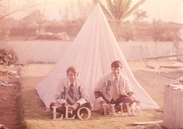 Elder Larry Richman and his tent companion, Elder Luis Manuel Argueta.