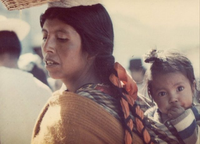 Cakchiquel woman with a baby