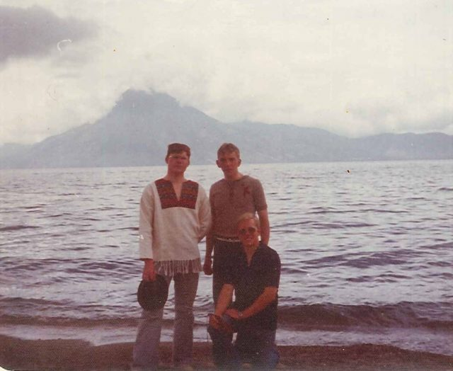 Elders Evans, Frischknecht, and Martin at Lake Atitlan